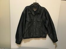 Union Bay Men's XL Heavy-Duty Black Jeans Work Shirt/Jacket - NICE!  (#PB-4)