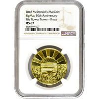 McDonalds McCoin 50th Anniversary 70s Flower Power NGC MS 67