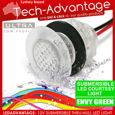 12V GREEN LED THRU-WALL SUBMERSIBLE WATERPROOF LIVEWELL BAIT COURTESY BOAT LIGHT