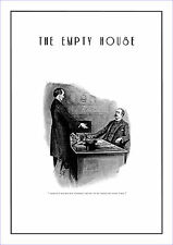"""Sherlock Holmes poster The empty house  11.7"""" x 16.5"""" by Sidney Paget"""