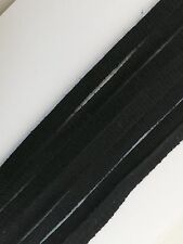 20 Metres - Black 4mm Fabric Ribbon