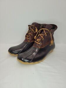 Sperry Top-Sider Saltwater Rubber Duck Boots Brown/Tan Women's Size 7.5 MSRP $99