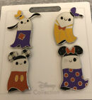 Disney Parks Halloween Ghost Mickey Minnie Donald And Goofy 4 pins