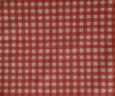 DESIGNERS GUILD Hide & Seek Gingham Red White Cotton Remnant New