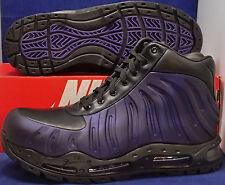 Nike Air Max Foamdome Foamposite Purple Black Eggplant Boots SZ 11 (843749-500)