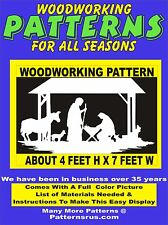 NATIVITY SCENE  N405  WOODWORKING CHRISTMAS YARD ART  PATTERN about 4 ft x 7 ft