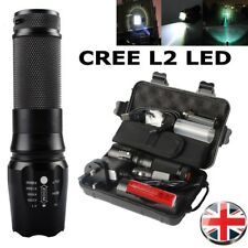 Tactical 8000LM XML-L2 Zoomable T6 LED Flashlight Rechargeable Torch Lamp Gifts