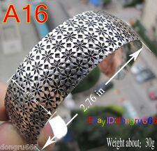 Details about Hot! New Tibetan Tibet silver snow Totem Bangle Cuff Bracelet