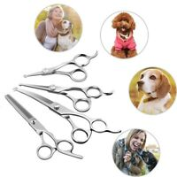 Silver Dog Cat Pet Grooming Scissors Set Round Tip Nose Safety Ears Paws Shears