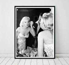 Marilyn Monroe Vintage Retro Celebrities Poster Art Print. Great Vanity Decor