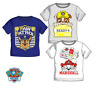 Boys Kids Official Paw Patrol Chase Marshall Rubble Short Sleeve T Tee Shirt Top