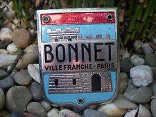 BONNET VILLEFRANCHE PARIS - alte Werbung Firmenschild Emblem Emaille Badge