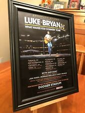 "BIG 10x13 FRAMED LUKE BRYAN ""2018 STADIUM CONCERTS"" PROMO AD w/ TOUR DATES!"