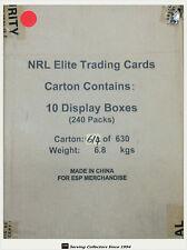 2016 ESP NRL ELITE TRADING CARD FACTORY CASE (24 PKS x 10 BOXES)