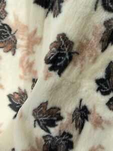 Merino Wool Blanket Throw leaf pattern Single Double King