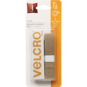 "VELCRO(R) Brand Iron-On Tape 3/4""X24""-Beige, 91036"