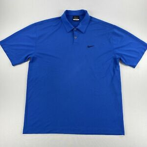 Nike Golf Mens Polo Dri-Fit Short Sleeve Shirt Blue Size XL