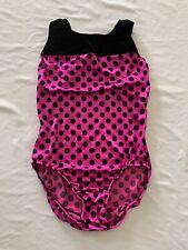 First Impressions Gymnastics Leotard Velvet Pink Size Large