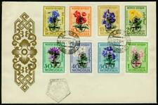 Mongolia 1962  FDC Anti-Malaria ovptd. Flowers set of 8