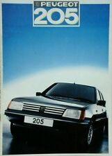 Peugeot 205 Sales Brochure - August 1986 Includes GTI and Cabriolet.#
