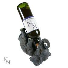 Guzzlers Elephant Lay Down Drinking Novelty Wine Bottle Holder Stand Rack Decor