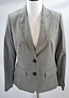 New Banana Republic Womens Blazer Jacket Gray Pinstriped Two Button Lined Sz 8P