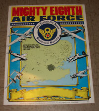 """The Mighty Eighth Air Force Poster 17x22"""" 8th Air Force Historical Society WW2"""