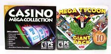 2 PC Games Mega Tycoon & Casino Mega Collection Windows 7/8 NEW