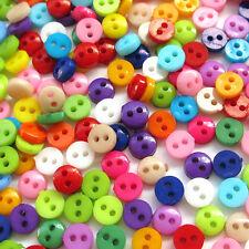 500pcs 6mm Mini Plastic Round Button 2 Holes Craft Clothe Sewing Wholesale