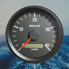 "VDO Rev-Counter Tachometer LCD Gauge 4000 RPM 80mm 3.1"" 333-035-011G"