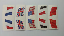 MARX BATTLEGROUND FLAG DECALS EUROPEAN PLAYSET