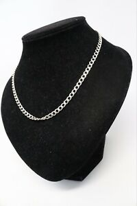 Brilliant Heavy Long Sterling Silver 925 Curb Link Chain Necklace 14.9g #249