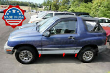 1999-2004 Chevy/Geo Tracker 2Dr Chrome Rocker Panel Trim Stainless Steel 6Pc