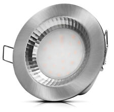 IP54 SMD LED Badeinbaustrahler 220V - 5W - Silber - Warmweiss - Feuchtraum Spots