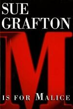SUE GRAFTON M IS FOR MALICE SIGNED FIRST EDITION