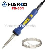 "Hakko FX-601 Adjustable Temperature Control Soldering Iron / 3/16"" / Free Solder"