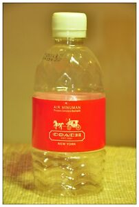 COACH MALAYSIA mineral water bottle empty special collection rare