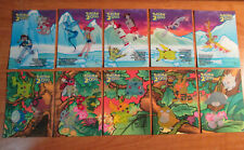 PL COMPLETE Topps POKEMON THE MOVIE 2000 Chase STICKER Promo Card Set PLAYED
