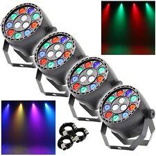 4x Equinox MicroPar RGBW LED DJ Disco Parcan Lighting Effect inc FREE DMX Cables