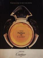PUBLICITÉ DE PRESSE 1989 PARFUM PANTHÈRE DE CARTIER PARIS - ADVERTISING