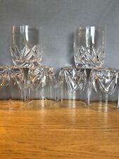 Waterford Brookside Oversized Double Old Fashion Glasses 12oz. Set of 6 -Elegant