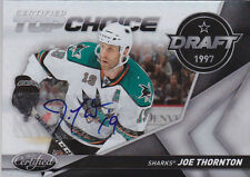 10-11 Certified Joe Thornton /10 Auto Top Choice Draft Sharks 2010
