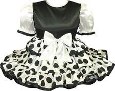 READY 2 WEAR | Cute SATIN Polka DOTS Adult Baby Sissy Little Girl Dress LEANNE