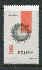 Poland Scott 1269 Socialist Group 100 Years, Globe Red Flag 1964 NH