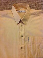 Para Hombre Ben Sherman (3) grande, mango naranja Mangas Largas Camisa. Excelente