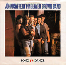 """JOHN CAFFERTY BEAVER BROWN BAND """"SONG AND DANCE"""" SCOTTI 07903 (1988) 45 & PIC SL"""
