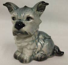 W Germany Goebel Large Gray Fluffy Dog Schnauzer Cairn Terrier Figurine 30117