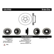 Disc Brake Rotor-High Performance Slotted Centric fits 02-07 Jeep Liberty