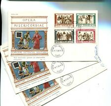Vatican City 1960 First Day Stamp Cover Scott 284 - 291 Signed Lot 3 7865H