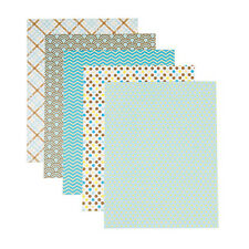 Patterned 8.5x11 Cardstock Paper Pack, Beachside Prints, 25 Sheets